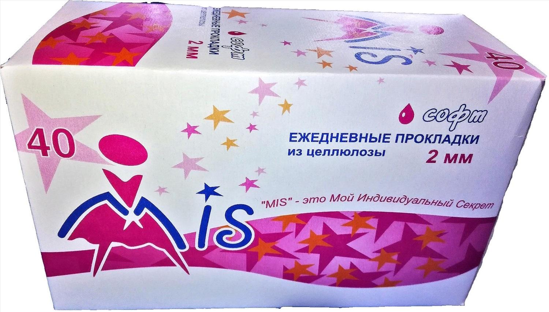 МИС ежедневные прокладки из целлюлозы 40 шт. (картон). Цена указана за 2 пачки!