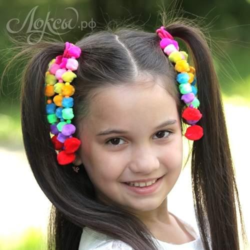 цветные детские прически фото