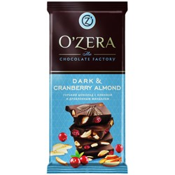 «OZera», шоколад Dark & Cranberry Almond, 90 г