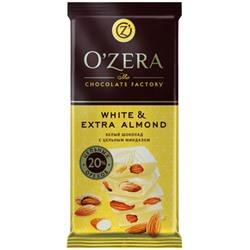 «OZera», шоколад White and Extra Almond, 90 г